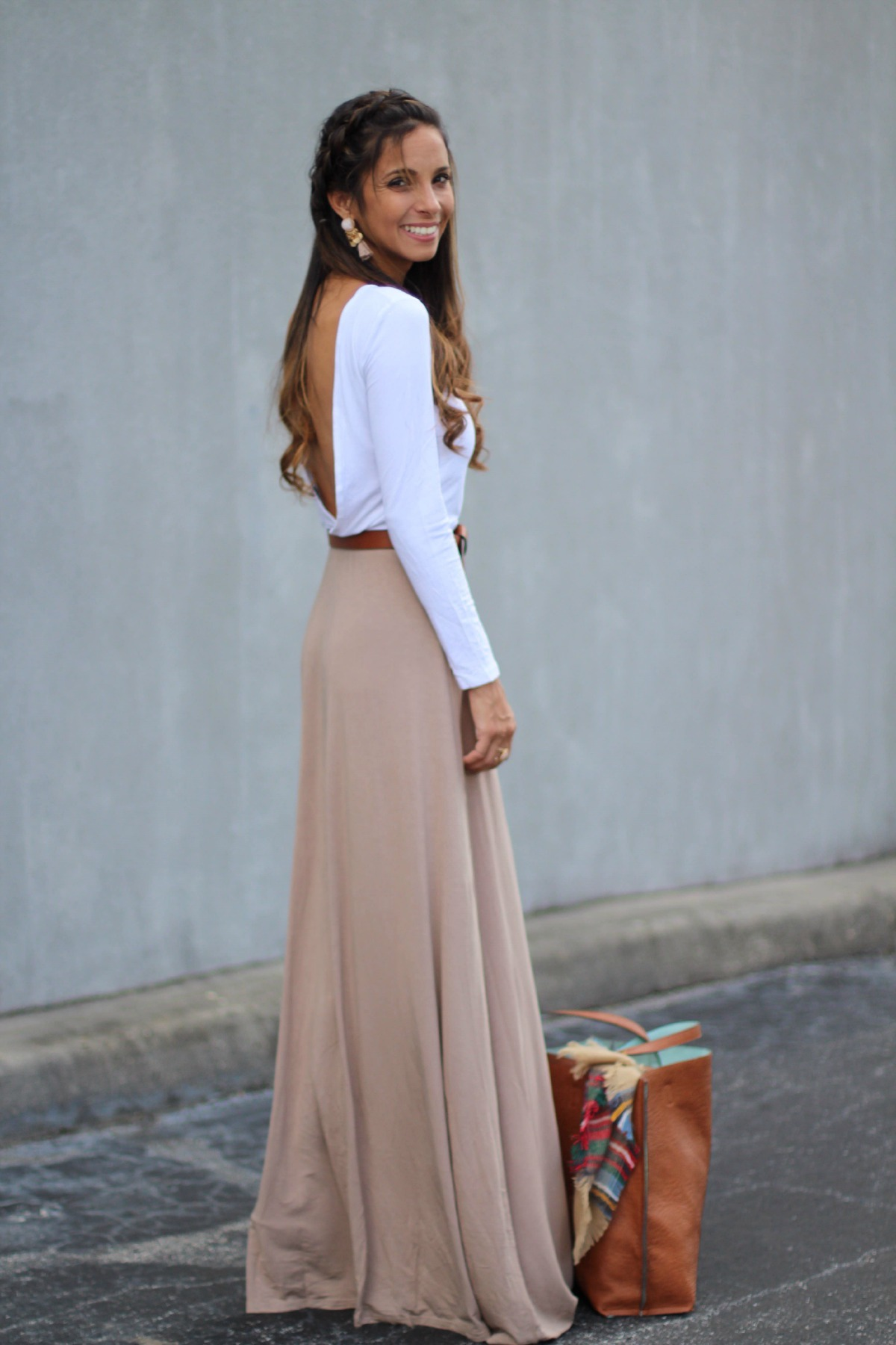 Sandie backless maxi dress
