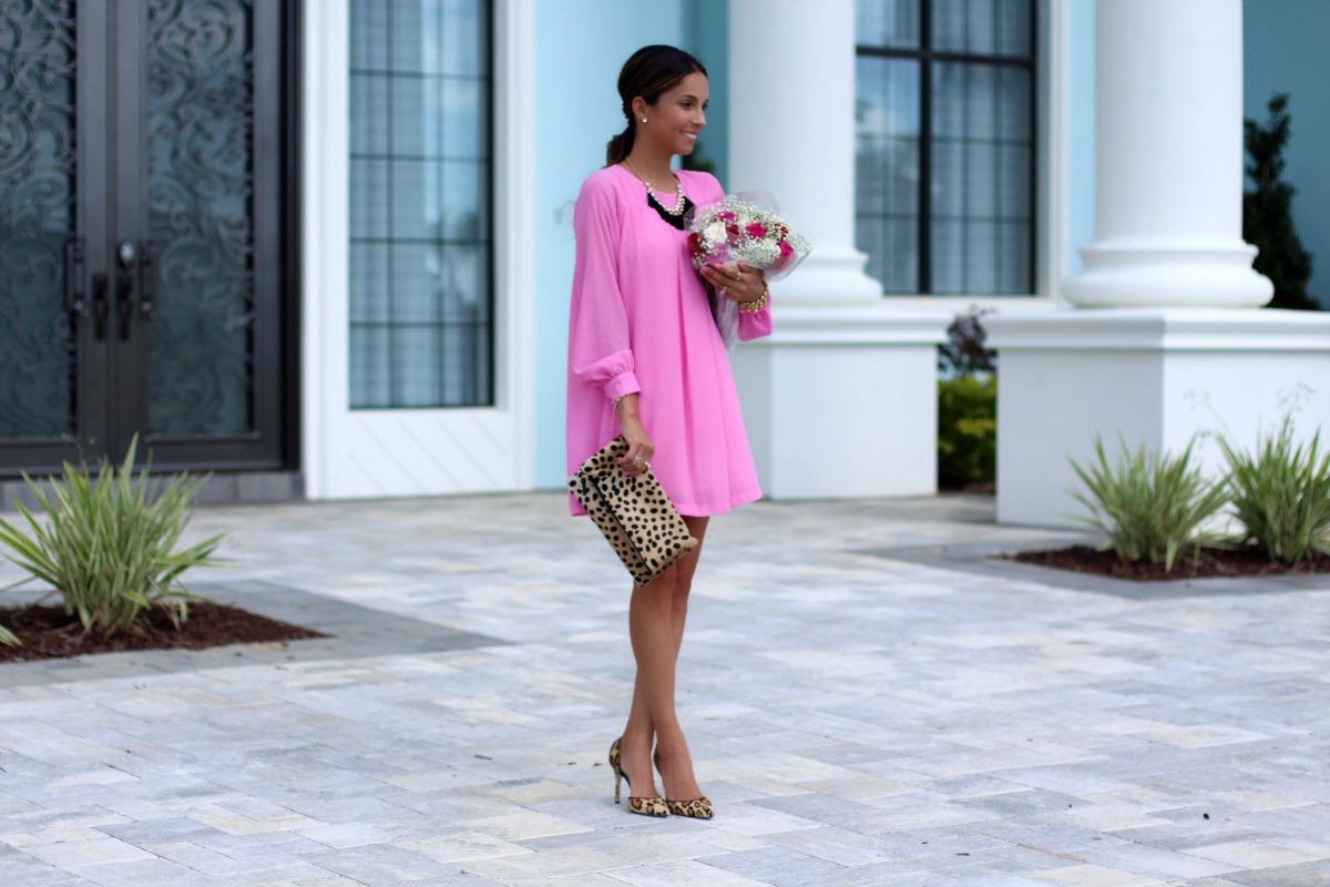 bubblegum pink tunic