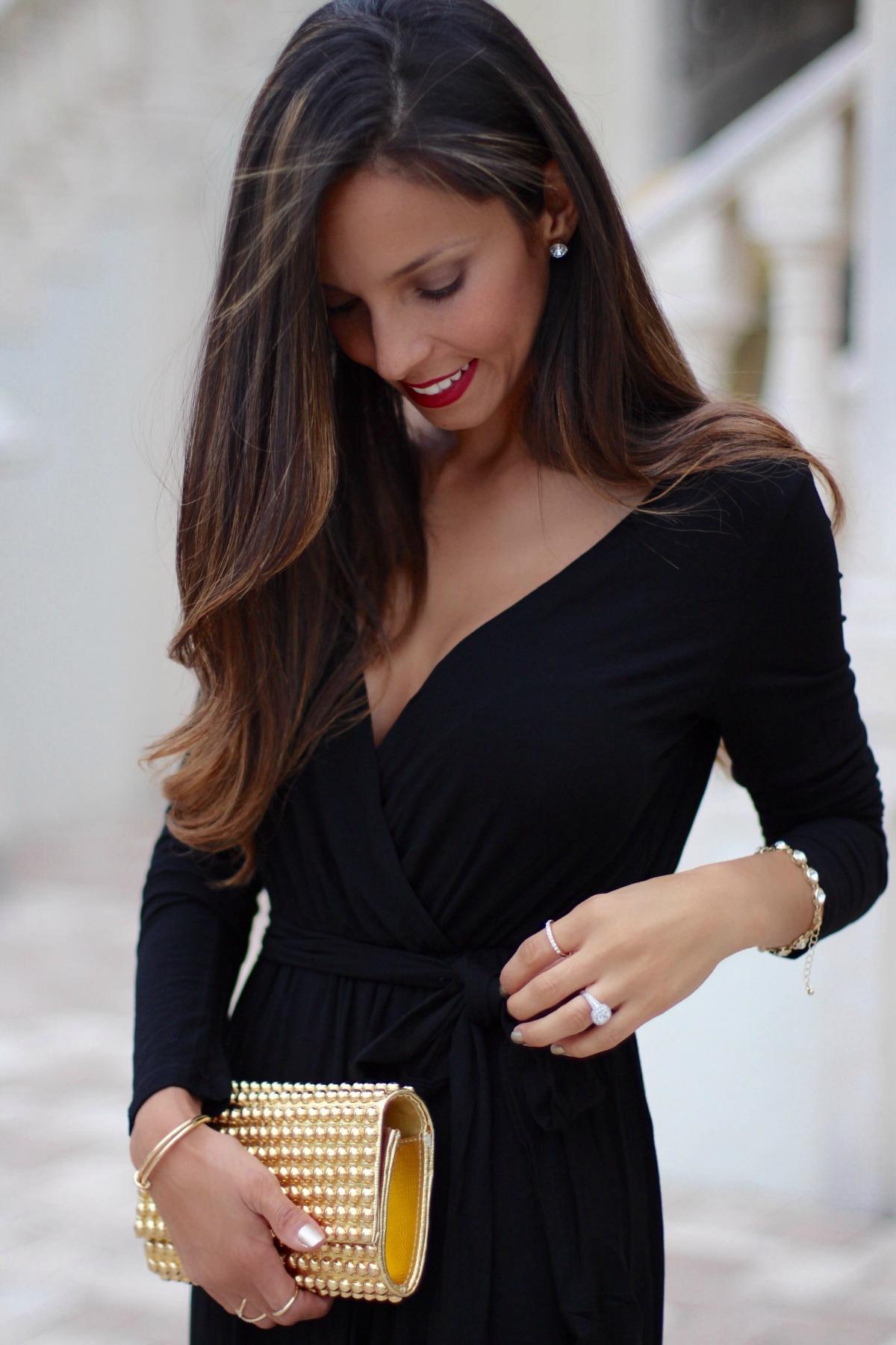 Farrah black maxi dress