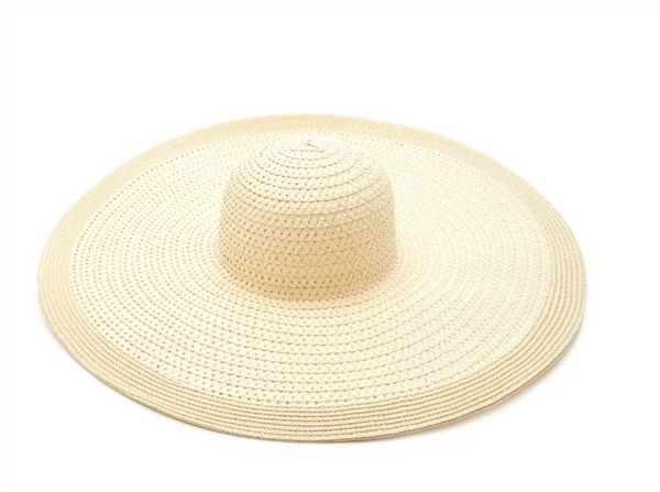 Extra-Wide Floppy Straw Hat