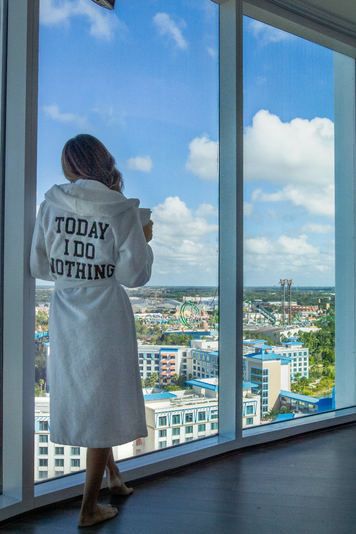 Room views of Universal's Aventura Hotel with Eleana